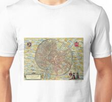 Leuven(2) Vintage map.Geography Belgium ,city view,building,political,Lithography,historical fashion,geo design,Cartography,Country,Science,history,urban Unisex T-Shirt