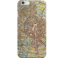 Leuven(2) Vintage map.Geography Belgium ,city view,building,political,Lithography,historical fashion,geo design,Cartography,Country,Science,history,urban iPhone Case/Skin