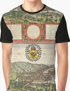 Liege Vintage map.Geography Belgium ,city view,building,political,Lithography,historical fashion,geo design,Cartography,Country,Science,history,urban Graphic T-Shirt