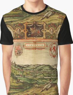 Limburg Vintage map.Geography Germany ,city view,building,political,Lithography,historical fashion,geo design,Cartography,Country,Science,history,urban Graphic T-Shirt