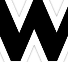 W BLACK LOGO Sticker
