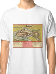 Limerick Vintage map.Geography Irland ,city view,building,political,Lithography,historical fashion,geo design,Cartography,Country,Science,history,urban Classic T-Shirt