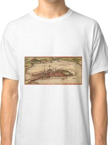 Lindau Vintage map.Geography Germany ,city view,building,political,Lithography,historical fashion,geo design,Cartography,Country,Science,history,urban Classic T-Shirt