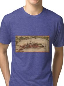 Lindau Vintage map.Geography Germany ,city view,building,political,Lithography,historical fashion,geo design,Cartography,Country,Science,history,urban Tri-blend T-Shirt