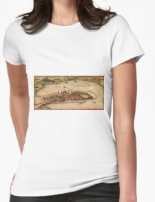 Lindau Vintage map.Geography Germany ,city view,building,political,Lithography,historical fashion,geo design,Cartography,Country,Science,history,urban Womens Fitted T-Shirt