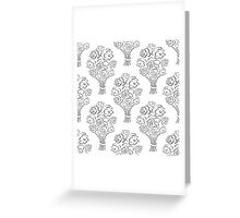 Rose bouquet seamless pattern. Hand drawn outline background. Flower sketch wallpaper. Greeting Card