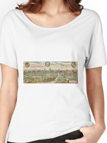 Lippstadt Vintage map.Geography Germany ,city view,building,political,Lithography,historical fashion,geo design,Cartography,Country,Science,history,urban Women's Relaxed Fit T-Shirt