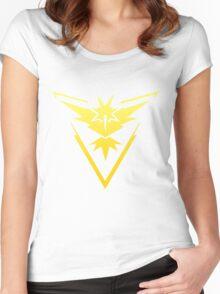 Team Instinct Pokemon Go gradient zapdos no text Women's Fitted Scoop T-Shirt