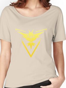 Team Instinct Pokemon Go gradient zapdos no text Women's Relaxed Fit T-Shirt