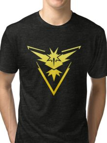 Team Instinct Pokemon Go gradient zapdos no text Tri-blend T-Shirt