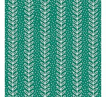 Simple leaf seamless pattern. Hand drawn blue background. Cute  wallpaper. Photographic Print