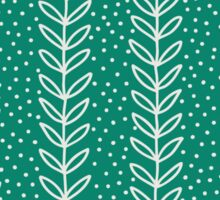 Simple leaf seamless pattern. Hand drawn blue background. Cute  wallpaper. Sticker