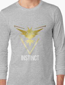 Team Instinct Galaxy Print - Bold Text (Pokemon Go) Long Sleeve T-Shirt