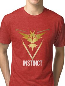 Team Instinct Galaxy Print - Bold Text (Pokemon Go) Tri-blend T-Shirt