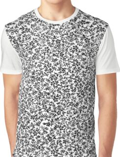 Vintage Floral Black and White Graphic T-Shirt