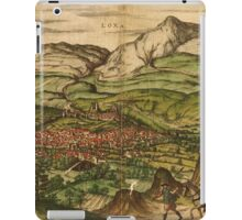 Loja Vintage map.Geography Spain ,city view,building,political,Lithography,historical fashion,geo design,Cartography,Country,Science,history,urban iPad Case/Skin