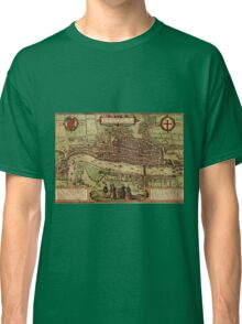 London Vintage map.Geography Great Britain ,city view,building,political,Lithography,historical fashion,geo design,Cartography,Country,Science,history,urban Classic T-Shirt