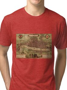 London Vintage map.Geography Great Britain ,city view,building,political,Lithography,historical fashion,geo design,Cartography,Country,Science,history,urban Tri-blend T-Shirt