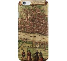 London Vintage map.Geography Great Britain ,city view,building,political,Lithography,historical fashion,geo design,Cartography,Country,Science,history,urban iPhone Case/Skin