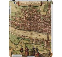 London Vintage map.Geography Great Britain ,city view,building,political,Lithography,historical fashion,geo design,Cartography,Country,Science,history,urban iPad Case/Skin