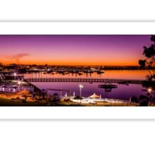 Eastern Beach Sunset, Geelong, Victoria, Australia Sticker