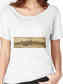 Lubeck Vintage map.Geography Germany ,city view,building,political,Lithography,historical fashion,geo design,Cartography,Country,Science,history,urban Women's Relaxed Fit T-Shirt