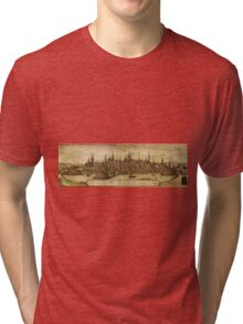 Lubeck Vintage map.Geography Germany ,city view,building,political,Lithography,historical fashion,geo design,Cartography,Country,Science,history,urban Tri-blend T-Shirt