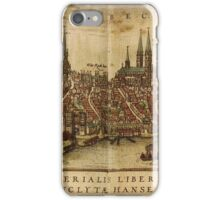 Lubeck Vintage map.Geography Germany ,city view,building,political,Lithography,historical fashion,geo design,Cartography,Country,Science,history,urban iPhone Case/Skin