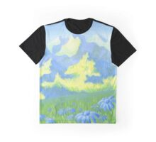 Blue Daisies Graphic T-Shirt