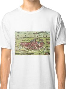 Lund Vintage map.Geography Sweden ,city view,building,political,Lithography,historical fashion,geo design,Cartography,Country,Science,history,urban Classic T-Shirt