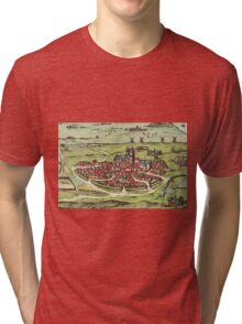 Lund Vintage map.Geography Sweden ,city view,building,political,Lithography,historical fashion,geo design,Cartography,Country,Science,history,urban Tri-blend T-Shirt