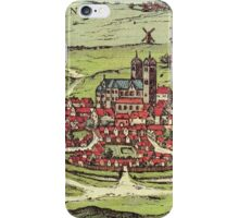 Lund Vintage map.Geography Sweden ,city view,building,political,Lithography,historical fashion,geo design,Cartography,Country,Science,history,urban iPhone Case/Skin