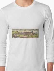Loreto Vintage map.Geography Italy ,city view,building,political,Lithography,historical fashion,geo design,Cartography,Country,Science,history,urban Long Sleeve T-Shirt