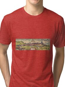 Loreto Vintage map.Geography Italy ,city view,building,political,Lithography,historical fashion,geo design,Cartography,Country,Science,history,urban Tri-blend T-Shirt