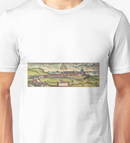 Loreto Vintage map.Geography Italy ,city view,building,political,Lithography,historical fashion,geo design,Cartography,Country,Science,history,urban Unisex T-Shirt