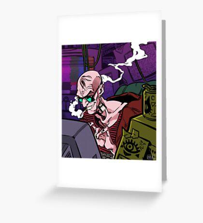 Cyberpunk Hacker Greeting Card