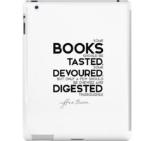 books: some tasted, devoured, digested - francis bacon iPad Case/Skin