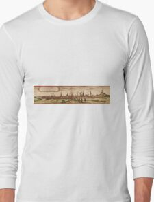 Lunenburg Vintage map.Geography Germany ,city view,building,political,Lithography,historical fashion,geo design,Cartography,Country,Science,history,urban Long Sleeve T-Shirt