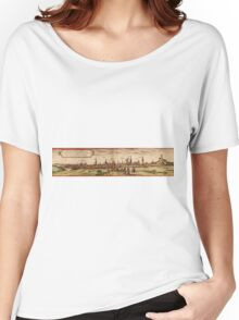 Lunenburg Vintage map.Geography Germany ,city view,building,political,Lithography,historical fashion,geo design,Cartography,Country,Science,history,urban Women's Relaxed Fit T-Shirt