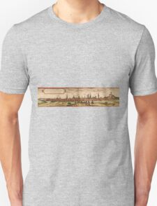 Lunenburg Vintage map.Geography Germany ,city view,building,political,Lithography,historical fashion,geo design,Cartography,Country,Science,history,urban Unisex T-Shirt