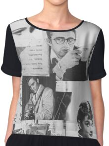 Creative Portrait Collage of 1950's Icons Chiffon Top