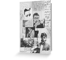 Creative Portrait Collage of 1950's Icons Greeting Card
