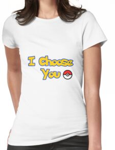 choose your pokemon Womens Fitted T-Shirt
