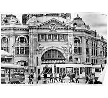 Flinders St Station, Melbourne Poster