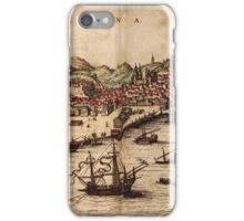 Lisbon Vintage map.Geography Portugal ,city view,building,political,Lithography,historical fashion,geo design,Cartography,Country,Science,history,urban iPhone Case/Skin