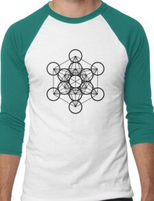 Metatron's Cube Men's Baseball ¾ T-Shirt