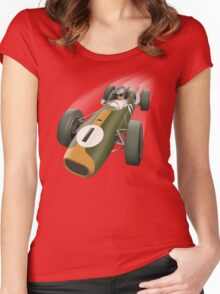 Racing Car Women's Fitted Scoop T-Shirt