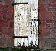 White Door in Disrepair - Bags, Cases and Prints by BadJokeJoel