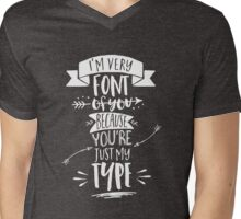 Very font of you Mens V-Neck T-Shirt