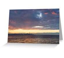 Just Before Sunrise - Toronto's Skyline Silhouette Greeting Card